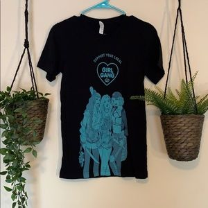 Jen Bartel Girl Gang black tee shirt XS